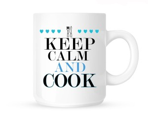 "Kubek""KEEP CALM AND COOK-NIEBIESKIE"""